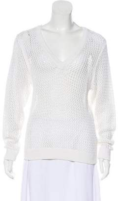 Rag & Bone Open Knit V-Neck sweater