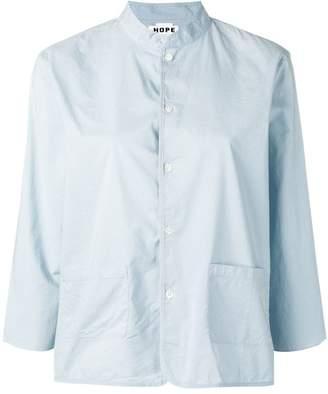 Hope boxy mandarin collar shirt