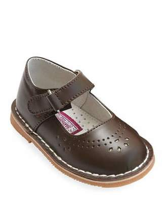 L'Amour Shoes Allegra Perforated Leather Mary Jane, Baby/Toddler/Kids