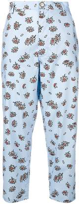 Marni cropped floral trousers