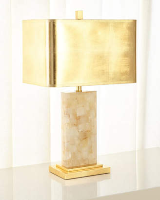 Calcite Rectangle Table Lamp