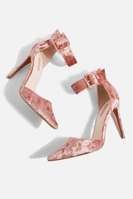 Topshop Grace Wide Ankle Strap Heel Court Shoes