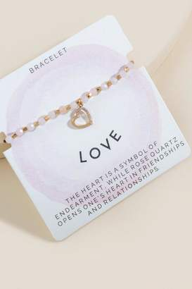 francesca's Mia Love Adjustable Bracelet - Pink