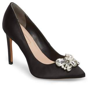AVEC LES FILLES Chiara Embellished Pointy Toe Pump