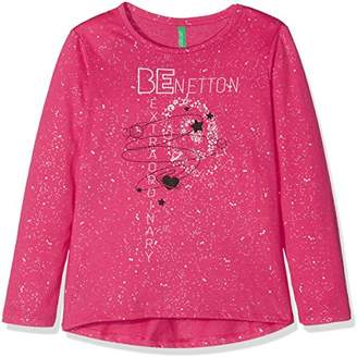 Benetton Girl's L/s T-Shirt,(Manufacturer Size: Large)