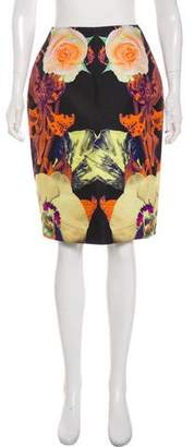 Josh Goot Print Silk Knee-Length Skirt