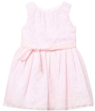 Pippa Pastourelle by and Julie Burnout Chiffon With Lurex Dress (Toddler & Little Girls)