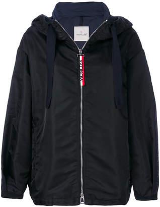 hooded boxy jacket