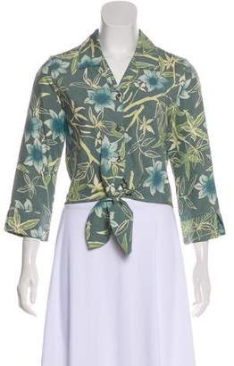 Tommy Bahama Floral Long Sleeve Top