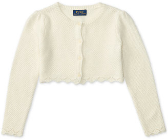 Ralph Lauren Floral-Embroidered Shrug, Toddler Girls (2T-5T) & Little Girls (2-6X) $55 thestylecure.com