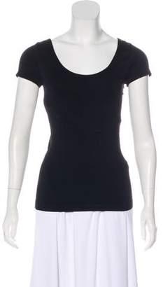 BCBGMAXAZRIA Scoop Neck Short Sleeve Top