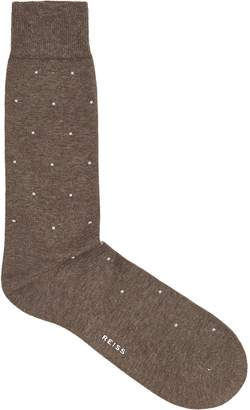 Reiss MARIO POLKA DOT SOCKS Taupe