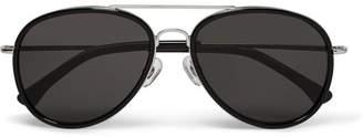 Dries Van Noten Metal Aviator Sunglasses