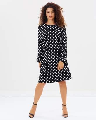 PETITE Frill Spot Swing Dress