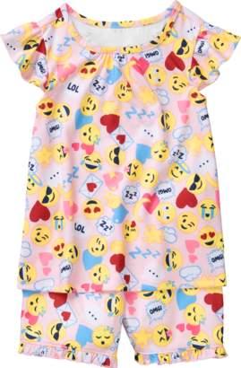 Gymboree Emoji 2-Piece Shortie Pajamas