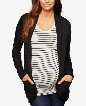 A Pea in the Pod Maternity French Terry Open-Front Cardigan