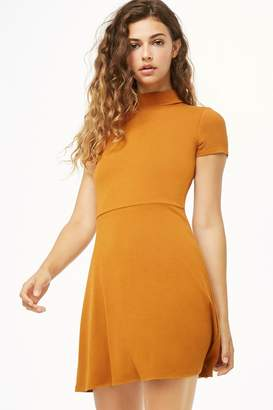 Forever 21 Mock Neck Fit & Flare Dress