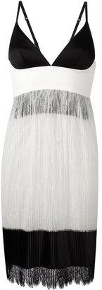 La Perla 'Leisuring' lace fringed hem dress $2,024 thestylecure.com