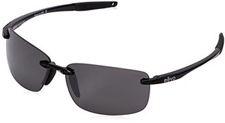 Revo Descend N RE 4059 01 GY Polarized Rectangular Sunglasses, Black, 64 mm $179 thestylecure.com