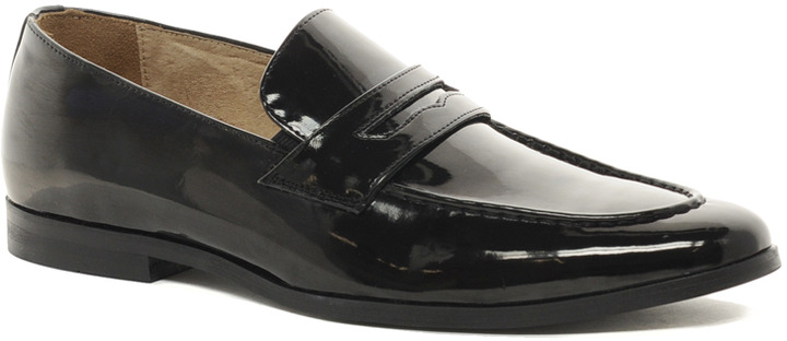 Asos Penny Loafers in Black Patent