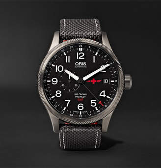 Oris Gmt Rega Limited Edition Automatic 45mm Stainless Steel And Canvas Watch