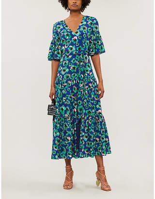 Borgo de Nor Teodora flared-sleeve floral-print cotton midi dress