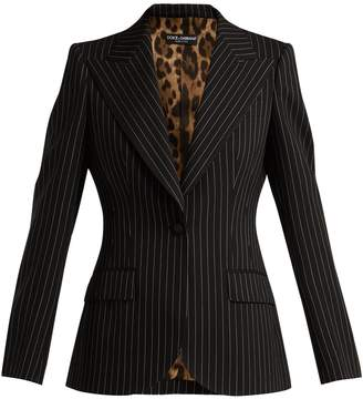 Dolce & Gabbana Single-breasted pinstripe wool blazer