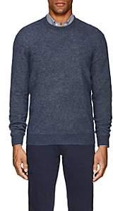 Loro Piana Men's Rib-Knit Cashmere-Silk Sweater - Blue