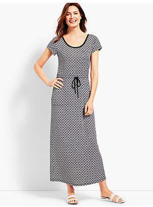 Talbots Soft Drape Jersey Dress - Joyful Geo Print