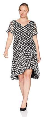 Sangria Women's Plus Size High-Low Flounce Dress