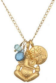 Satya Ganesha, Lotus, and Gemstone Necklace