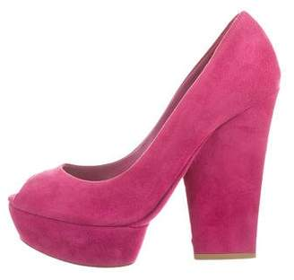 Christian Dior Suede Platfrom Pumps