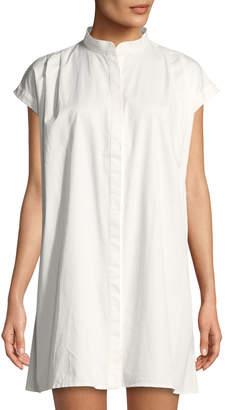 Glamorous Cap-Sleeve Corset-Back Shirtdress