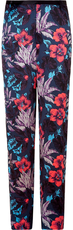 Marc by Marc Jacobs Horizon teal floral silk pants