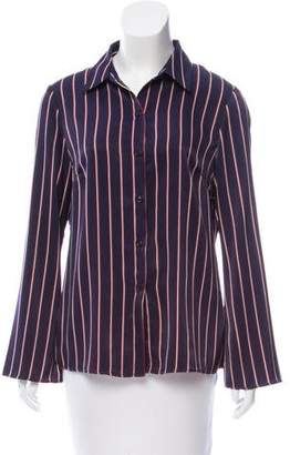 DREW Striped Button-Up Top