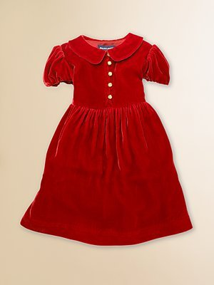 Ralph Lauren Toddler & Little Girl's Velvet Dress