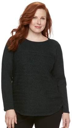 Croft & Barrow Plus Size Marled Sweater