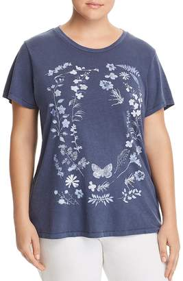 Lucky Brand Plus Floral Graphic Tee