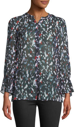 Club Monaco Lowryda Printed Button-Front Top