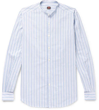 Piombo MP Massimo Rodin Slim-Fit Grandad-Collar Striped Cotton Shirt