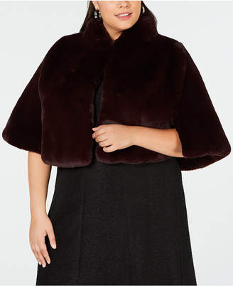 Betsey Johnson Plus Size Faux-Fur Shrug