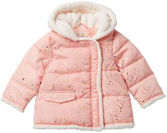 Jessica Simpson Faux Fur Lined Printed Bubble Jacket (Baby Girls)