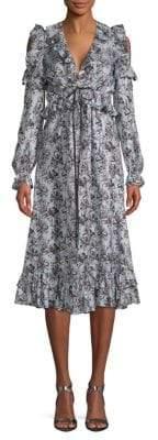 Robert Rodriguez Orchid Ruffled Silk Dress