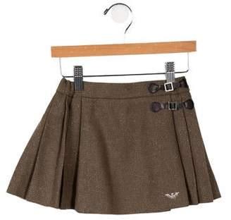 Armani Junior Girls' Metallic-Accented Pleated Skirt