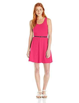 U.S. Polo Assn. Juniors Belted Spandex Fit and Flare Dress