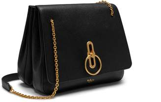 Mulberry Marloes Satchel Black Small Classic Grain
