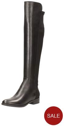 1b312947ca56 at Littlewoods · Clarks Caddy Belle Over The Knee Boot - Black
