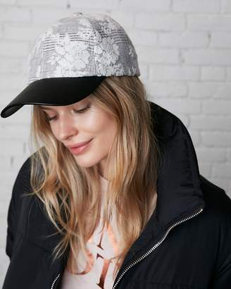 Express Minus The) Leather Brim Floral Baseball Hat