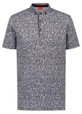 HUGO Boss Slim-fit polo shirt in mercerized cotton jacquard L Black