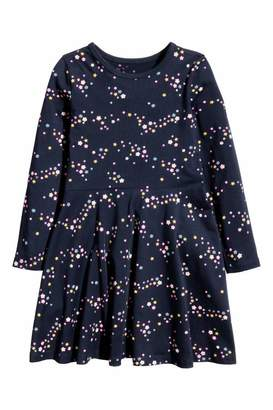 H&M Jersey Dress - Dark blue/patterned - Kids